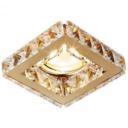 Встраиваемый светильник Ambrella light Crystal K110 CL/G