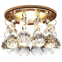 Встраиваемый светильник Ambrella light Crystal K2051 CL/G