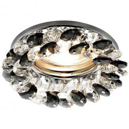 Встраиваемый светильник Ambrella light Crystal K206 BK/CH