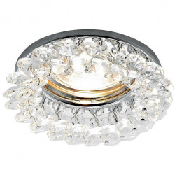Встраиваемый светильник Ambrella light Crystal K206 CL/CH