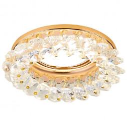 Встраиваемый светильник Ambrella light Crystal K206 CL/G