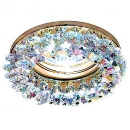 Встраиваемый светильник Ambrella light Crystal K206 MULTI/G
