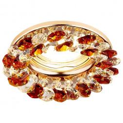 Встраиваемый светильник Ambrella light Crystal K206 TI/G