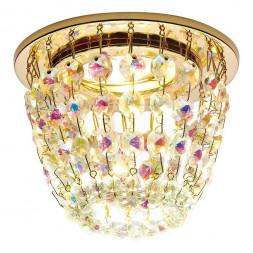 Встраиваемый светильник Ambrella light Crystal K2075 G/PR