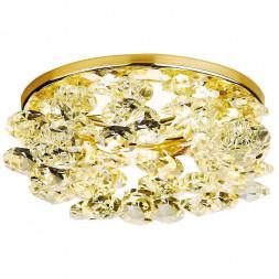 Встраиваемый светильник Ambrella light Crystal K308 CL/G