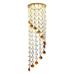 Встраиваемый светильник Ambrella light Crystal K3440 CL/BR/G