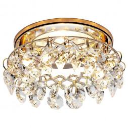 Встраиваемый светильник Ambrella light Crystal K7070 CL/G