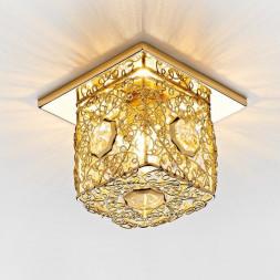 Встраиваемый светильник Ambrella light Desing D1003 G/CL