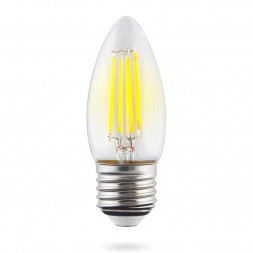 Лампа светодиодная E27 6W 4000К прозрачная VG10-C1E27cold6W-F 7029