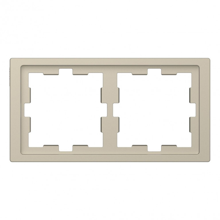 Рамка 2-постовая Schneider Electric Merten D-Life MTN4020-6533