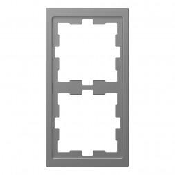 Рамка 2-постовая Schneider Electric Merten D-Life MTN4020-6536