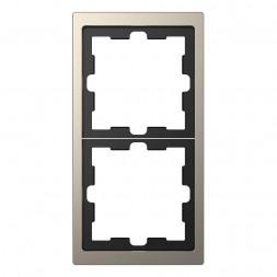 Рамка 2-постовая Schneider Electric Merten D-Life MTN4020-6550