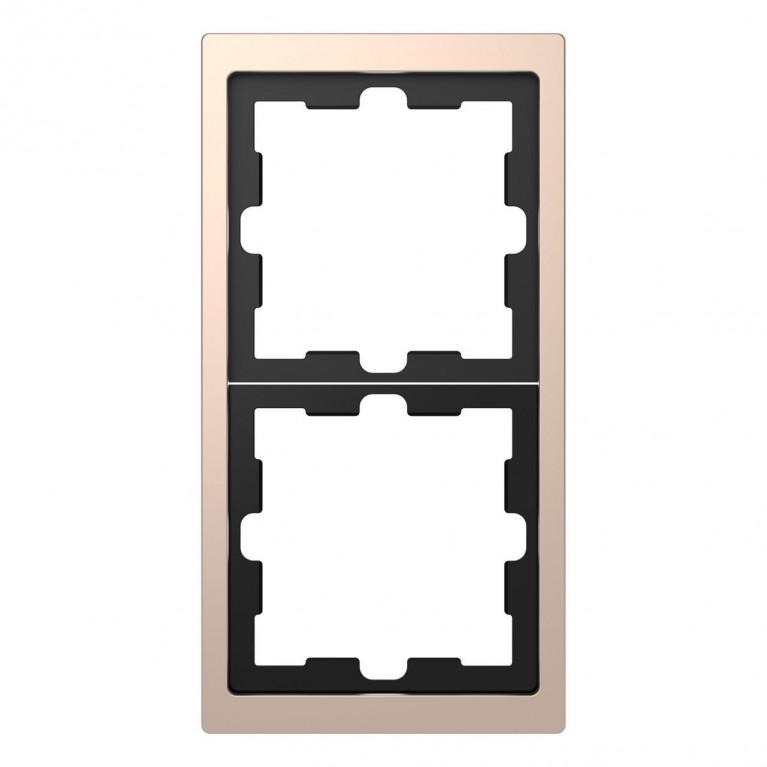 Рамка 2-постовая Schneider Electric Merten D-Life MTN4020-6551