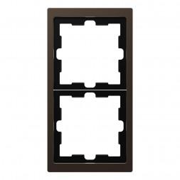 Рамка 2-постовая Schneider Electric Merten D-Life MTN4020-6552