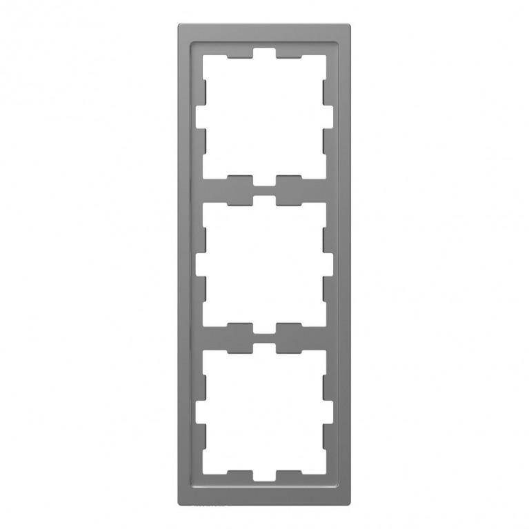 Рамка 3-постовая Schneider Electric Merten D-Life MTN4030-6536