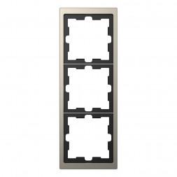 Рамка 3-постовая Schneider Electric Merten D-Life MTN4030-6550