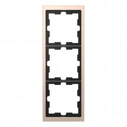 Рамка 3-постовая Schneider Electric Merten D-Life MTN4030-6551
