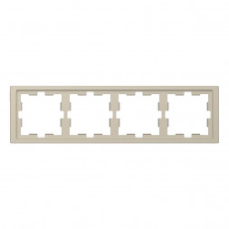 Рамка 4-постовая Schneider Electric Merten D-Life MTN4040-6533