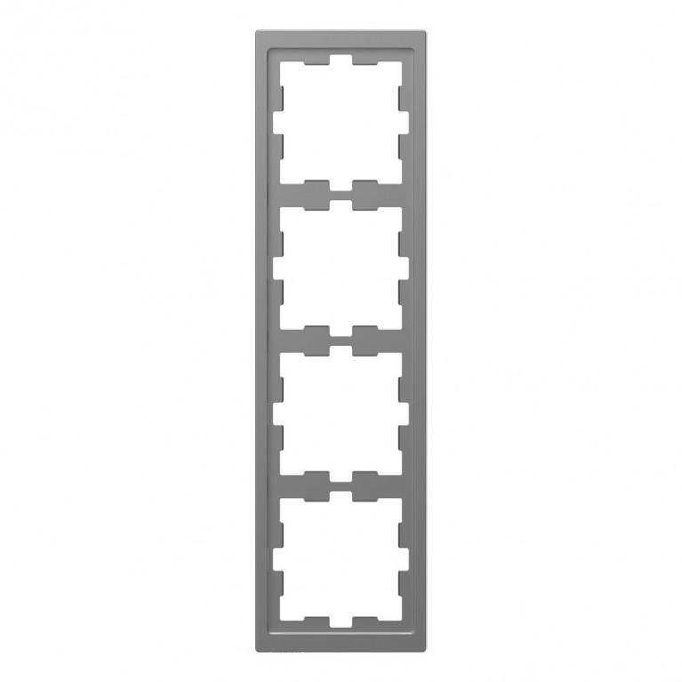 Рамка 4-постовая Schneider Electric Merten D-Life MTN4040-6536