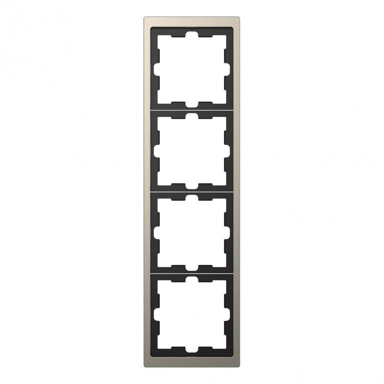 Рамка 4-постовая Schneider Electric Merten D-Life MTN4040-6550