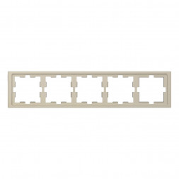 Рамка 5-постовая Schneider Electric Merten D-Life MTN4050-6533