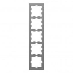Рамка 5-постовая Schneider Electric Merten D-Life MTN4050-6536