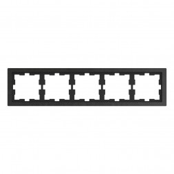 Рамка 5-постовая Schneider Electric Merten D-Life MTN4050-6547