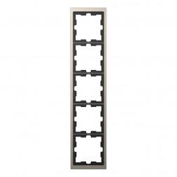 Рамка 5-постовая Schneider Electric Merten D-Life MTN4050-6550