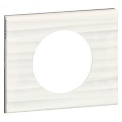 Рамка 1-постовая Legrand Celiane Corian белый рельеф 069011
