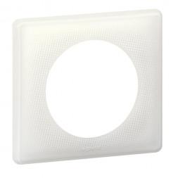 Рамка 1-постовая Legrand Celiane белый муар 066640