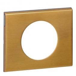 Рамка 1-постовая Legrand Celiane золото 069131
