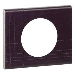 Рамка 1-постовая Legrand Celiane кожа пурпур 069441