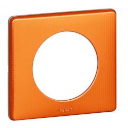 Рамка 1-постовая Legrand Celiane оранж пунктум 068761