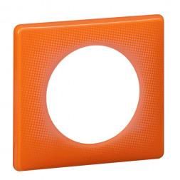 Рамка 1-постовая Legrand Celiane оранжевый муар 066651