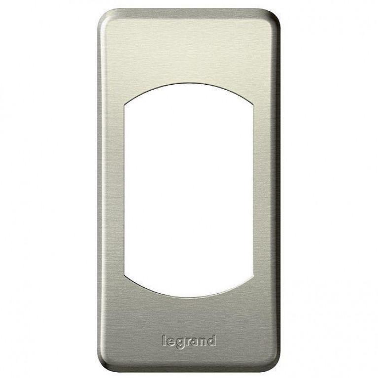 Рамка 1-постовая Legrand Celiane титан 068900