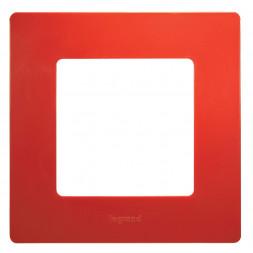 Рамка 1-постовая Legrand Etika красный 672531