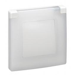 Рамка 1-постовая Legrand Etika с защитной крышкой белая 672550