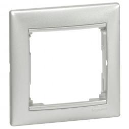 Рамка 1-постовая Legrand Valena алюминий 770151