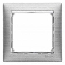 Рамка 1-постовая Legrand Valena алюминий матовый 770331