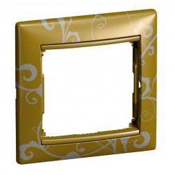 Рамка 1-постовая Legrand Valena золото барокко 770020