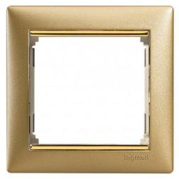 Рамка 1-постовая Legrand Valena матовое золото 770301