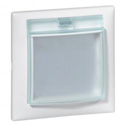 Рамка 1-постовая Legrand Valena с крышкой белая 774450