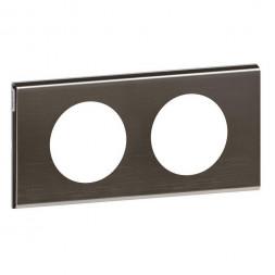 Рамка 2-постовая Legrand Celiane Corian чёрный никель 069032