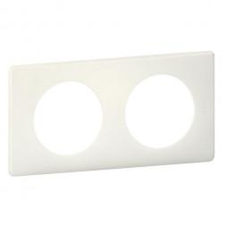 Рамка 2-постовая Legrand Celiane белая перкаль 066702