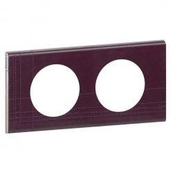 Рамка 2-постовая Legrand Celiane кожа пурпур 069442