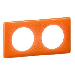 Рамка 2-постовая Legrand Celiane оранжевый муар 066652