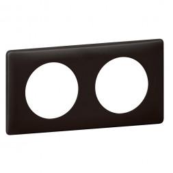 Рамка 2-постовая Legrand Celiane черная перкаль 066742