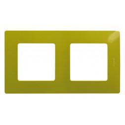 Рамка 2-постовая Legrand Etika зелёный папоротник 672542