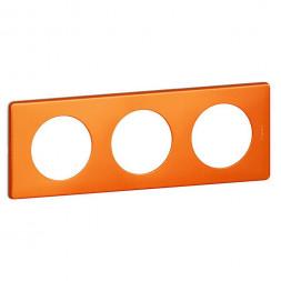 Рамка 3-постовая Legrand Celiane оранж пунктум 068763