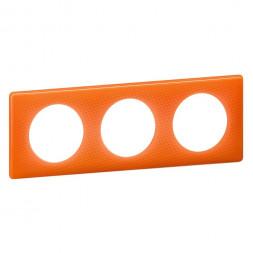 Рамка 3-постовая Legrand Celiane оранжевый муар 066653